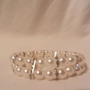 Beads Stretch  Rhinestones Sparkle Bracelet